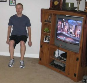 P90X Legs and Back Wall Squat