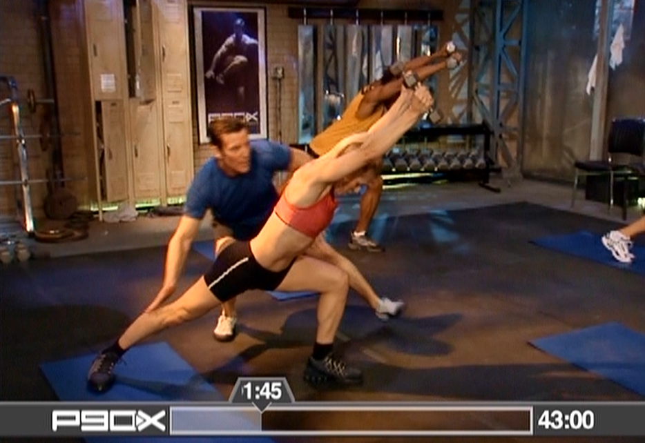 P90X Leaning Crescent Lunges