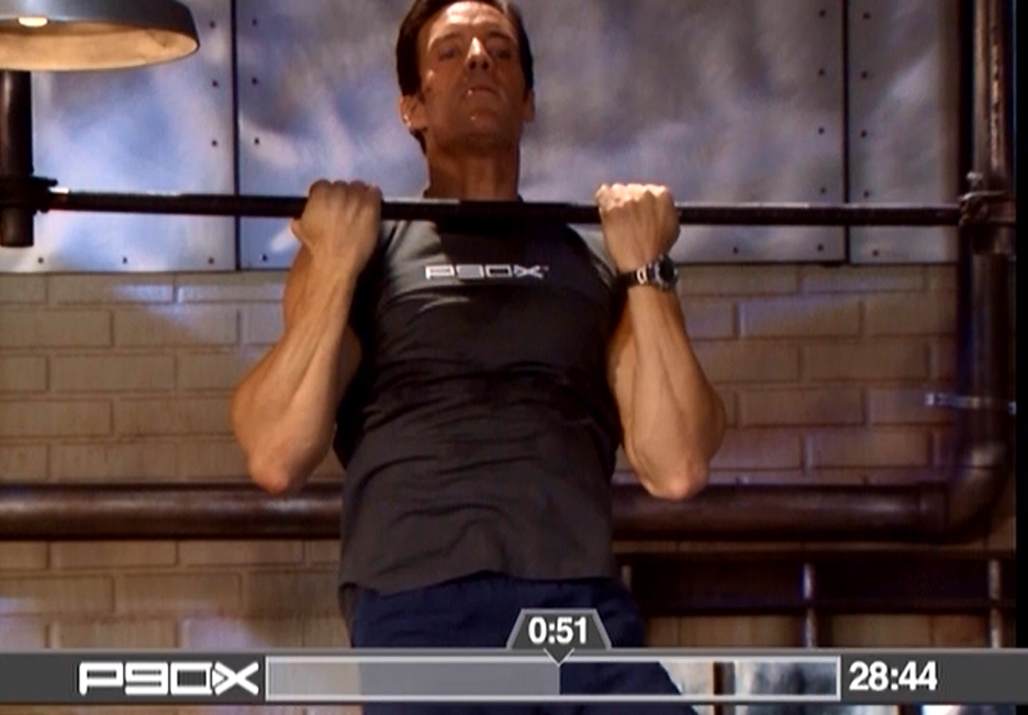 P90X Legs and Back Switch Grip Pull Ups