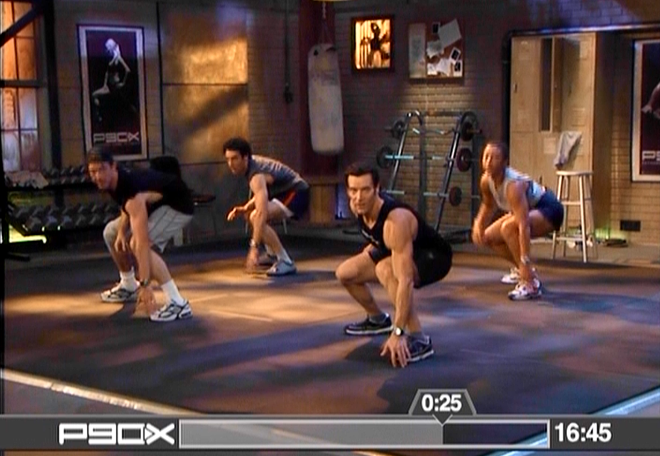P90X Plyometrics Run Squat 180 Jump Switch