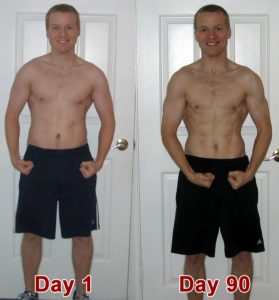 P90X Results Before & After Front Picture