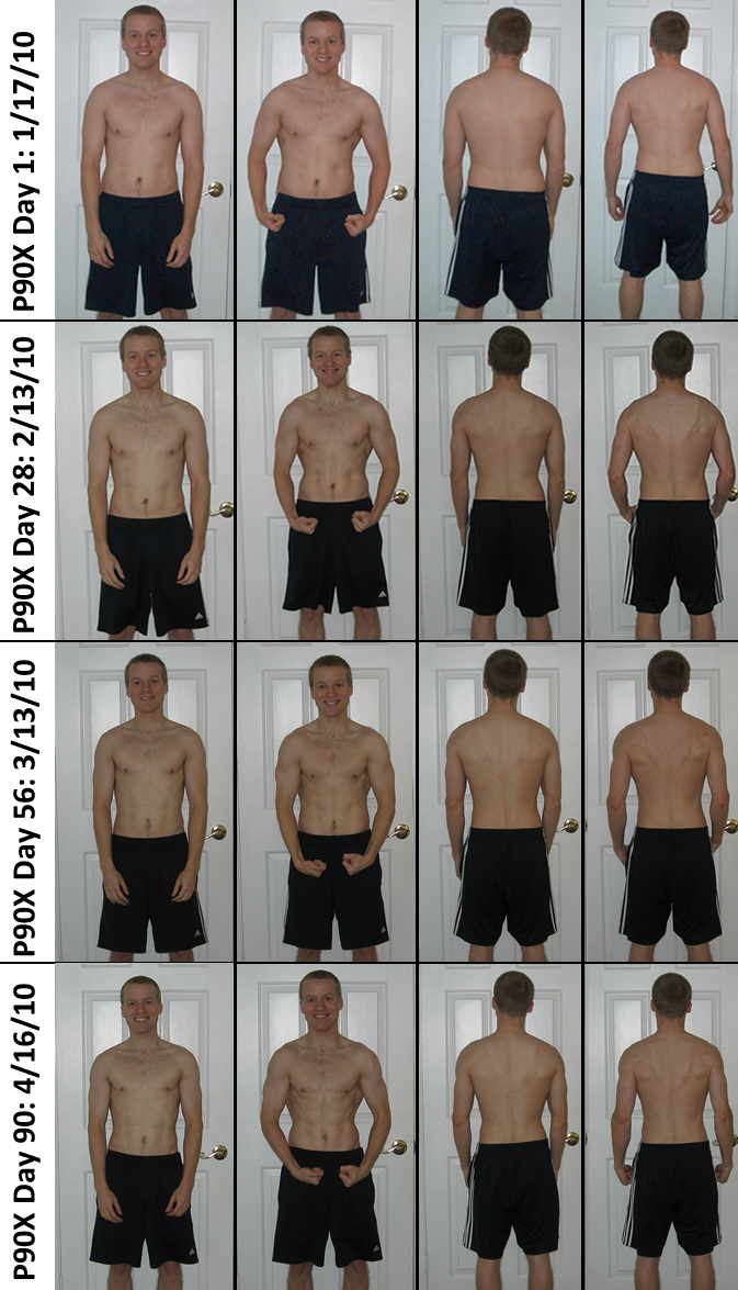 P90X Results Day 1, 28, 56, 90 Pictures