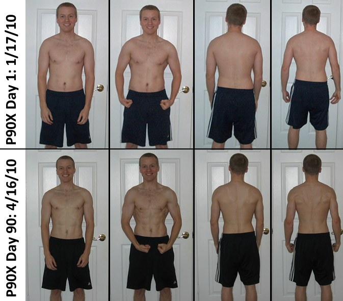 P90X Results Day 1 and Day 90