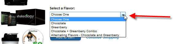Step 1 - Select Shakeology Flavor