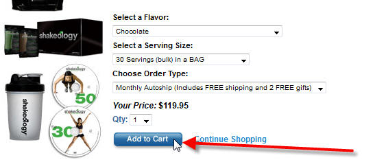 Step 5 - Add To Cart & Checkout To Order Shakeology