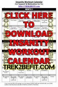 Insanity Workout Calendar PDF