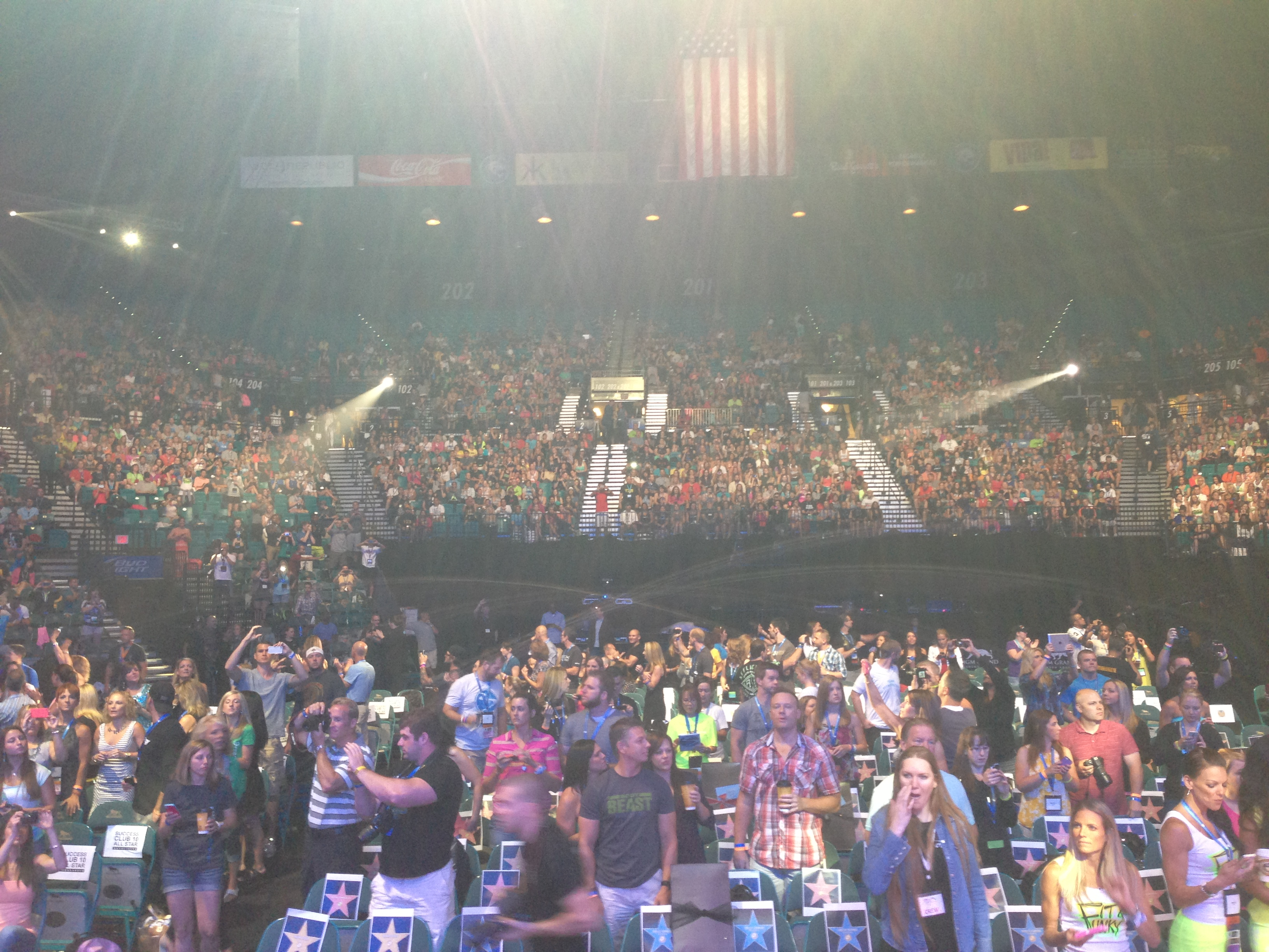 Team Beachbody Coach View From Stage